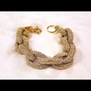 Jewelry - Pave Gold Bracelet Pretty Bracelet